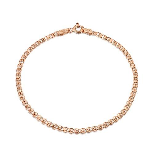 amberta 925 sterlingsilber ros gold 14k damen armkette. Black Bedroom Furniture Sets. Home Design Ideas