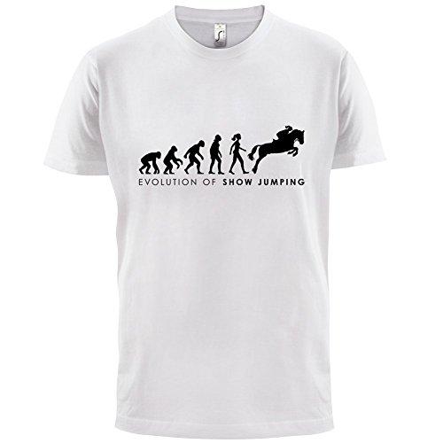 Evolution of Woman - Springreiten - Herren T-Shirt - 13 Farben Weiß