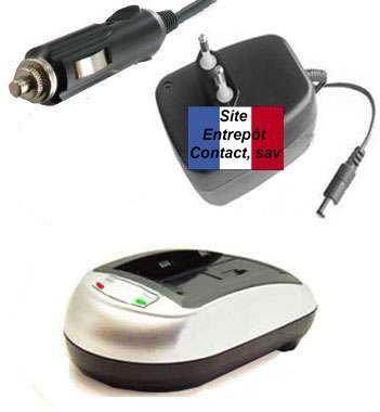 Chargeur de Batterie Appareil Photo E-force® pour CANON Powershot Elph S410 / elph S500 / eLPH S - 2.5W/0.5A - LIVRAISON GRATUITE. Ce chargeur recharge la Batterie sur secteur ou en voiture