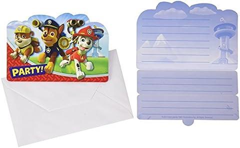 Carte D Invitation Anniversaire - Amscan - 999138 - 8 Cartes d'Invitation