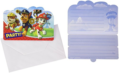 Amscan - 999138 - 8 Cartes d'Invitation Paw Patrol 5055989227455
