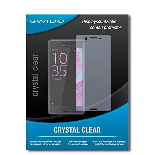 SWIDO Schutzfolie für Sony Xperia X Performance [2 Stück] Kristall-Klar, Hoher Härtegrad, Schutz vor Öl, Staub & Kratzer/Glasfolie, Bildschirmschutz, Bildschirmschutzfolie, Panzerglas-Folie