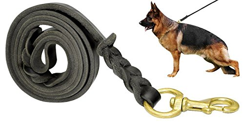 fairwin-braided-leather-dog-lead-17m-best-military-grade-heavy-duty-dog-leash-for-large-medium-small
