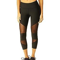FITTOO Pantalones Deportivos 3/4 de Entrenamiento Deportivo para Mujeres con 3/4 Leggings Deportivos Medium