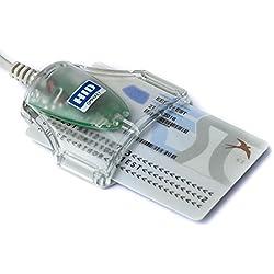HID Omnikey Lecteur de Carte d'identité eID Smart Card USB ID 1021 3021 (gris)