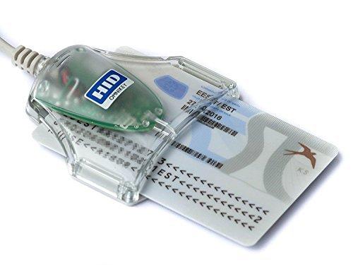 HID Omnikey Ausweis-Lesegerät, eID Smart Card, USB, ID 1021 3021, Grau