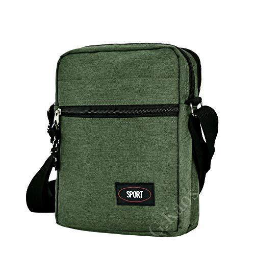 Gloria Kaos–Bolsa Bolso Hombre Correa Ajustable Tela Técnico Moderno Verde GK-A001-Green
