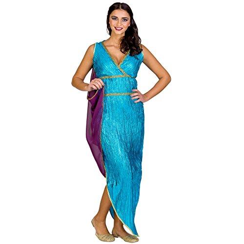Frauenkostüm griechische Schönheit Kassandra | langes Kleid mit sexy Ausschnitt | angenähte Schärpe (XL | Nr. 300413) (Griechische Götter Kostüme Für Jungen)