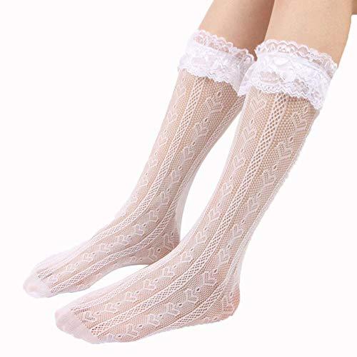 - Rüschen Herz Weiß Knöchel Socken
