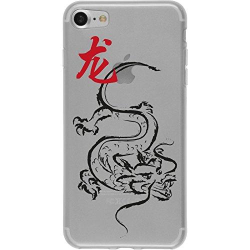 PhoneNatic Case für Apple iPhone 8 Silikon-Hülle Tierkreis Chinesisch M7 Case iPhone 8 Tasche + 2 Schutzfolien Design:05