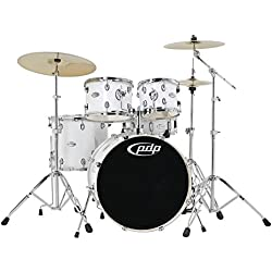 DW PDP Mainstage Metallic Black Drum Set