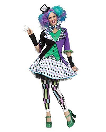 Crazy Wunderland Alice Kostüm Im - Horror-Shop Verrückte Hutmacherin Märchen-Kostüm M/L