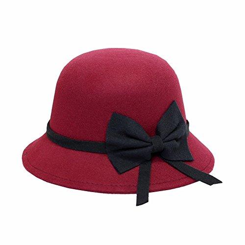 Wicemoon Sombrero de las Mujeres Fiesta de Desgaste Gorras de las Hombres de Lujo(Púrpura)