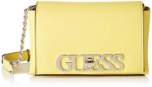 Guess Uptown Chic Mini Xbody Flap, bolso bandolera para Mujer, Amarillo (Yellow), 9x13x21...