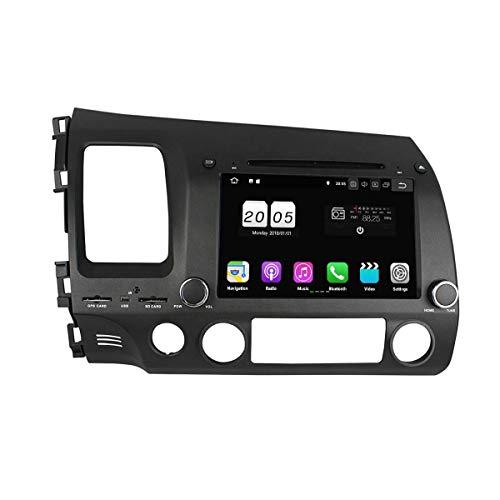 8 Zoll 2 Din Android 8.1 OS Autoradio für Honda Civic(2006-2012) LHD,DAB+ Radio kapazitiver Touchscreen mit Quad Core 1.5G CPU 16G Flash und 2G DDR3 RAM GPS Navi Radio DVD Player 3G/WiFi Aux In (Oem-dvd-civic 2010)