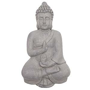 Effet pierre grise Bouddha Thai Déco Décoration murale Statue Plaque- fonction