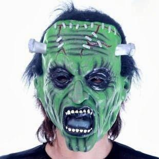 CoolChange Halloween Maske Frankenstein Grün Kostüm (Frankenstein Kostüme Schrauben)