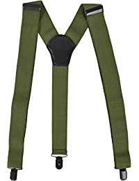 Uni Hosenträger mit extra robusten Clips in verschiedenen Farben