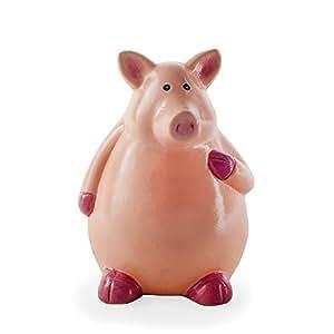 Tirelire Cochon Tirelire Cochon assis en terre cuite Animal Boîte d'économie d'