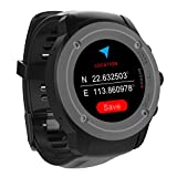 Men Women Sports GPS Watch,Touch Screen GPS Running Watches Wrist Heart Rate Monitor Activity Sport Smart Watch Outdoor Navigation With GPS Location,Smart Notifications,Weather Forecast,Siri Voice-command Perfect for Running,Cycling and Walking Indoor/Outdoor Sport,Compatible IOS 8.0 & Android 4.4 and above , Including 3-4 days Standby time Magnetic Charging Station(Black)