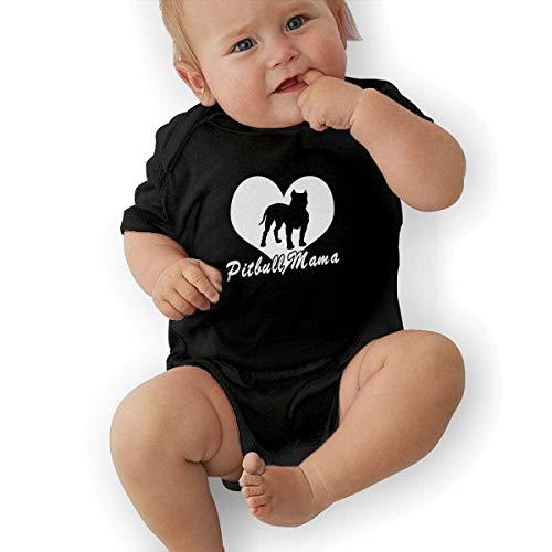 FAFANIQ Pitbull MamaPitbull Mama Dog Lover Unisex Baby Short Sleeve Bodysuit-12M