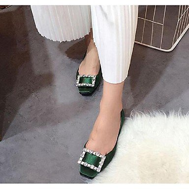 Confortevole ed elegante piatto scarpe donna Appartamenti Primavera Estate Autunno altri abito in seta Casual tacco piatto Strass Nero Rosso Verde a piedi Black