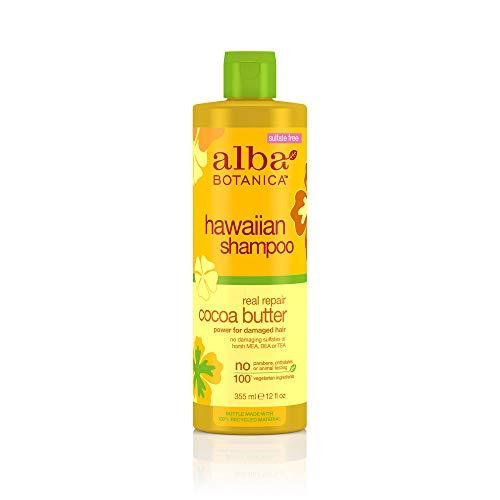 Alba botanica, Beurre de cacao pour laver et réparer les cheveux secs, 12 fl oz (350 ml)
