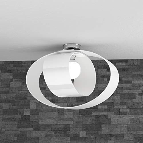 Deckenleuchte LAMPADARIO ELEGANTE GLAS WEISS CAMERA SALA Küche TOP LIGHT Modell LAP 1146/PL55-BI MODERNE DESIGN -