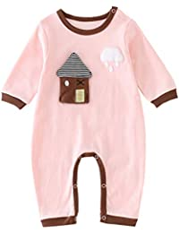 d38436220 Baby Rompers Cotton Onsises Boys Girls Long Sleeve Sleepsuit Coveralls  Cartoon Outfits