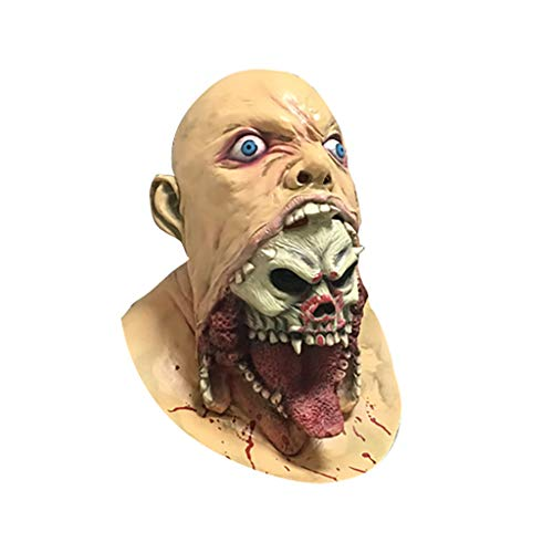 Verkauf Kostüm Zum Purge - Huacat Halloween Maske Michael Myers Latex Horror Masken Make up Party Kostüm Full Head Bloody Mask Melting Face für Erwachsene Walking Dead Scary
