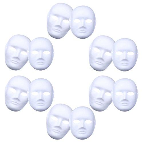 hablone Normalpapier-handgemachte Schablone volle Gesichts-Maskerade-Schablone für Mann und weibliches Halloween Cosplay Partei (Diy-halloween-kostüm Für Männer)