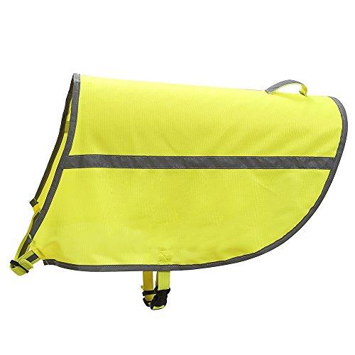 Hund Hi Viz fluoreszierend Hohe Sichtbarkeit Sicherheitsweste Mantel Jacke (Hund Sicherheitsweste Jacke)