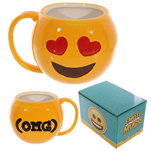 e Emoji Tasse Kaffee Tee Trinken Tasse Großes Gesicht Emotionale Becher Gesichtsausdruck Tasse und Becher Liebe ()