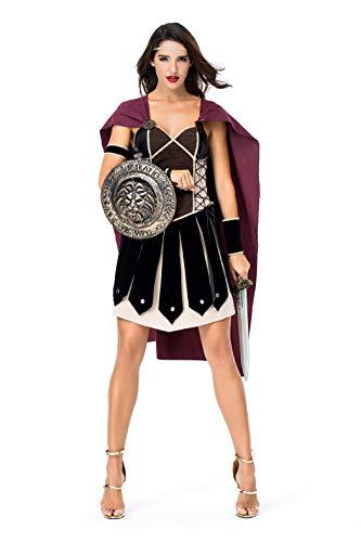 Frauen Spartanischer weiblicher Krieger Antiken römischen Arena Gladiator Halloween Cosplay Kostüm (Weibliche Halloween Kostüme)
