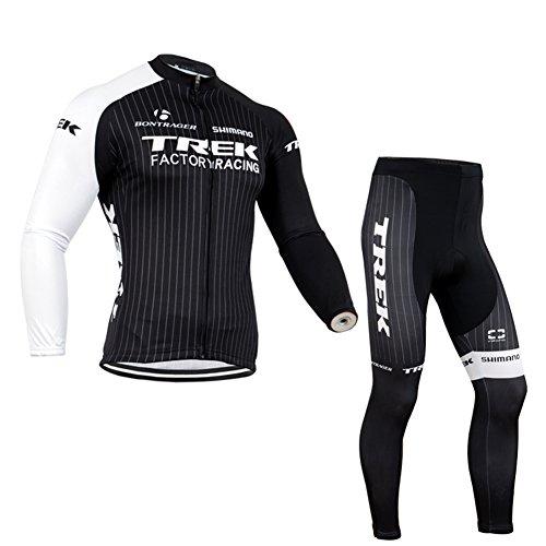 Strgao 2016 Herren Winter Radtrikots Pro Rennen Team Trek Thermal Radfahren Langarm Radhose MTB Radbekleidung Radfahren Anzug cycling jersey pants set suit
