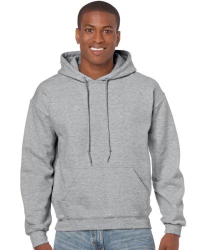 GILDAN - Felpa con cappuccio Sport grigio
