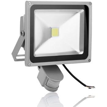 amzdeal 20w projecteur ext rieur led avec d tecteur de mouvement clairage ext rieur pour. Black Bedroom Furniture Sets. Home Design Ideas