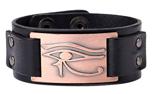 Wicca Religiöse Alte Ägypten Heilige Eye Of Horus Wedjat Auge Armreif Leder Armband
