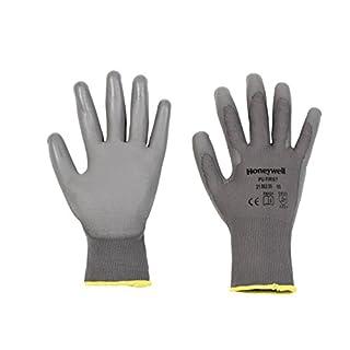 Honeywell 2100250-09 Gants de Manutention Générale PU 1st Grey, Manipulation Fine en Milieu Sec, EN 388 4131 - Taille 9 (Pack de 10 paires)