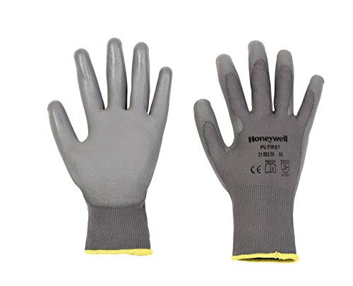 honeywell-2100250-09-size-9-pu-first-knitted-gloves-grey-pack-of-10