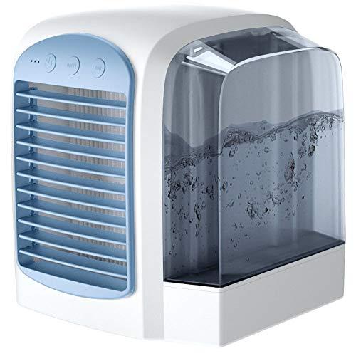 SSLL Mini LuftküHler Luftreiniger Luftbefeuchter, 3 In 1 USB Tragbare Mobile Klimaanlage, FüR Zuhause, BüRo, Hotel,Blue -