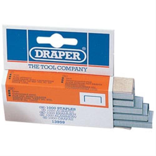 Draper STAPLES- : 6 mm (boîte de 1000 agrafes *Boîte de 10