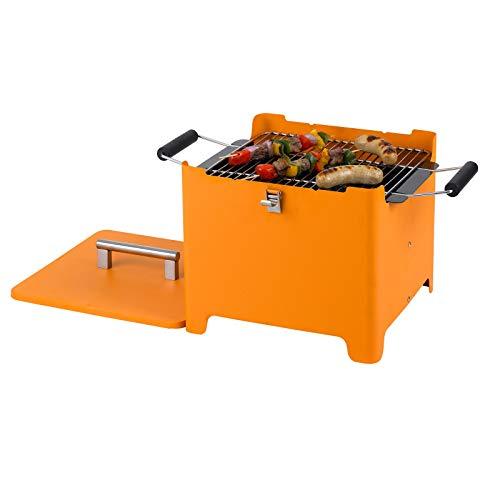 Tepro Barbecue au Charbon de Bois Cube Orange