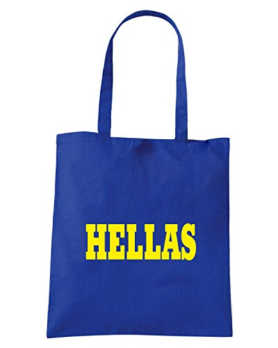 T-Shirtshock - Borsa Shopping WC0990 HELLAS ITALIA CITTA STEMMA LOGO Blu Royal