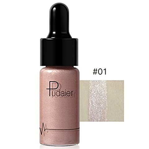 Liquid Highlighter, Jaminy 12 Colors Highlighter Make Up Concealer Shimmer Face Glow Liquid Highlighter