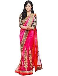 Sharanam Sarees Chiffon Saree (Prabhat_58_Pink)
