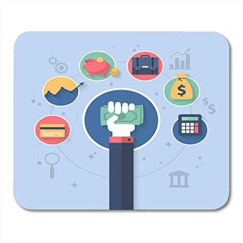 Mouse Pads Expense Bank Flat for Online Banking and Control Finance Application Budget Income Mouse Pad for notebooks,Desktop Computers mats Office Supplies