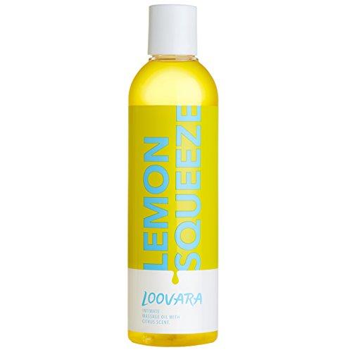 Loovara Massageöl Lemon Squeeze (250 ml) Erotik Öl mit anregendem Citrus Duft