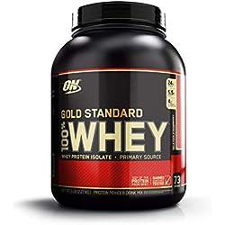 Optimum Nutrition Gold Standard 100% Whey Proteína en Polvo, Fresa - 2270 g