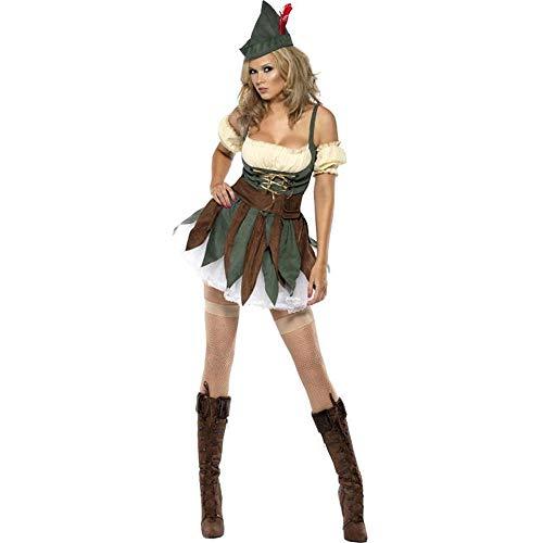 Rollenspiel-Stage-Kostüme, Halloween Indian Tribe Savage Kostüme, weibliche Chiefs Spielen Uniformen, Jäger Kostüme,M